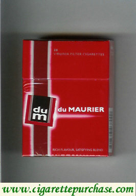 Discount Du Maurier red cigarettes hard box