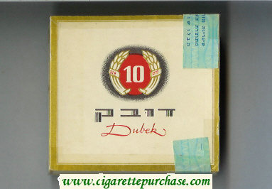 Discount Dubek 10 cigarettes wide flat hard box