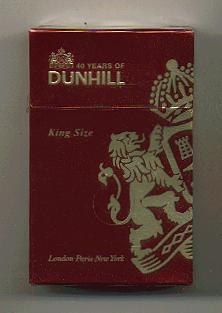 Dunhill 40 years of Dunhill cigarettes hard box