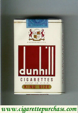 Discount Dunhill Cigarettes King Size Made in USA soft box
