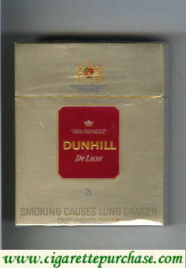 Discount Dunhill De Luxe 25 cigarettes hard box