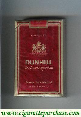 Discount Dunhill De Luxe American cigarettes soft box