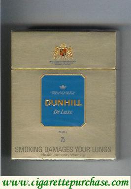 Discount Dunhill De Luxe Mild 25 cigarettes hard box