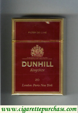 Dunhill Filter De Luxe King Size 20 cigarettes hard box
