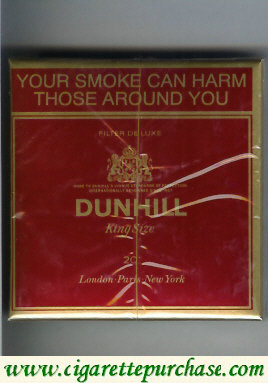 Dunhill Filter De Luxe King Size 20 cigarettes wide flat hard box