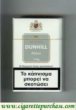 Dunhill Filters 1 mg cigarettes hard box