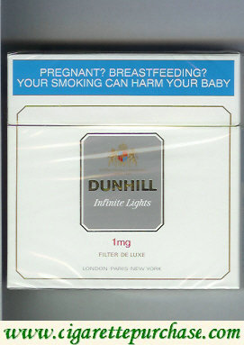 Discount Dunhill Infinite Lights 1 mg Filter De Luxe 30 cigarettes hard box