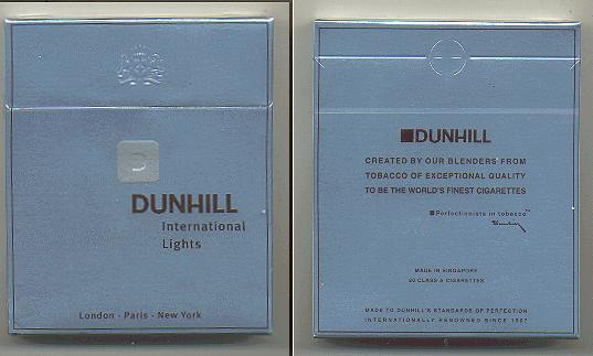Discount Dunhill International Lights D 100s cigarettes wide flat hard box