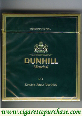 Discount Dunhill International Menthol 20 100s cigarettes wide flat hard box