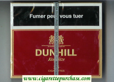 Discount Dunhill King Size 25 cigarettes wide flat hard box