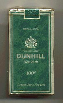 Discount Dunhill Menthol Lights 100s cigarettes soft box