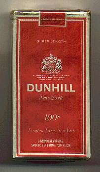 Discount Dunhill New York 100s cigarettes soft box