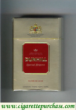 Discount Dunhill Special Reserve Filter De Luxe cigarettes hard box