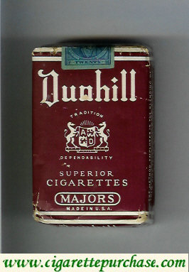 Dunhill Superior Cigarettes Majors cigarettes soft box