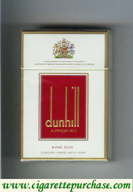 Dunhill Superior Mild King Size cigarettes hard box