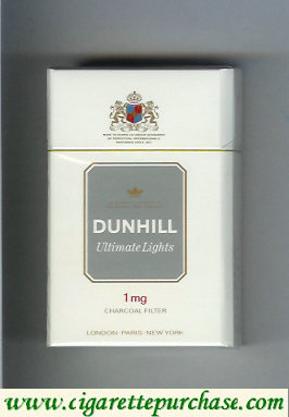 Discount Dunhill Ultimate Lights 1 mg cigarettes hard box