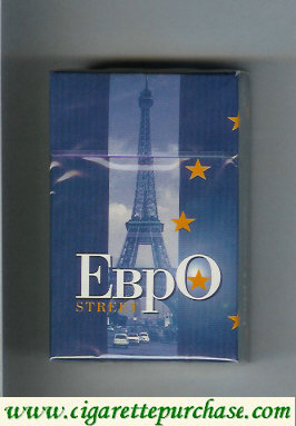 EBPO T Street blue cigarettes hard box