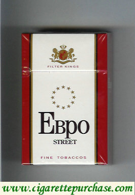 EBPO T Street white and red cigarettes hard box