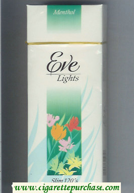 Discount EVE Menthol Lights Slim 120s cigarettes hard box