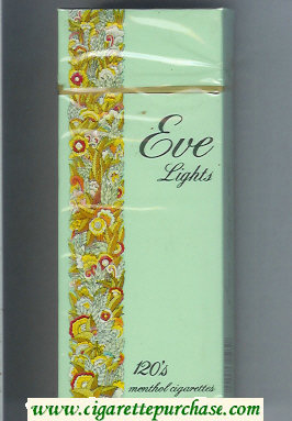 Discount EVE Lights 120s Menthol cigarettes hard box