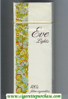 Discount EVE Lights 120s Filter cigarettes hard box