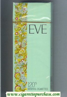Discount EVE 120s Menthol cigarettes hard box