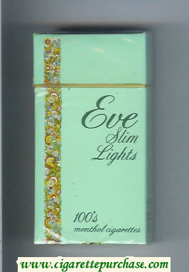 Discount EVE Slim Lights 100s Menthol cigarettes hard box