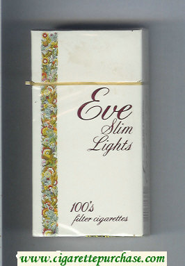 Discount EVE Slim Lights 100s Filter cigarettes hard box