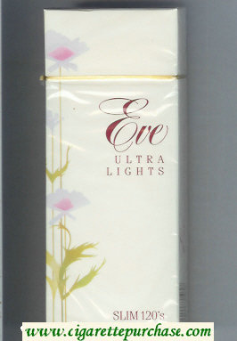 Discount EVE Ultra Lights Slim 120s cigarettes hard box