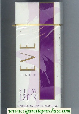 Discount EVE Lights Slim 120s cigarettes hard box