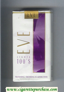 Discount EVE Lights 100s cigarettes soft box