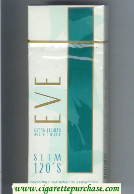 Discount EVE Ultra Lights Menthol Slim 120s cigarettes hard box
