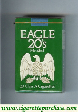Discount Eagle 20s Menthol cigarettes soft box