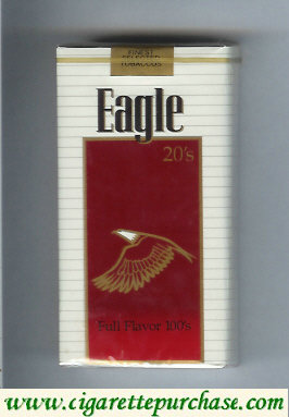 Discount Eagle 20s Full Flavor 100s cigarettes soft box