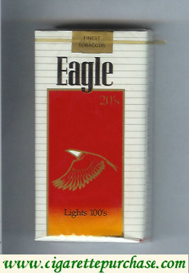 Discount Eagle 20s Lights 100s cigarettes soft box