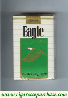 Discount Eagle 20s Menthol King Lights cigarettes soft box
