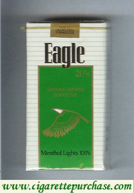 Discount Eagle 20s Menthol Lights 100s cigarettes soft box