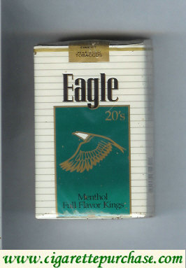 Discount Eagle 20s Menthol Full Flavor Kings cigarettes soft box