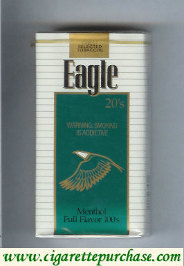 Discount Eagle 20s Menthol Full Flavor 100s cigarettes soft box