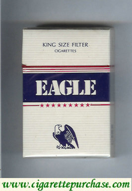 Discount Eagle King Size Filter cigarettes hard box