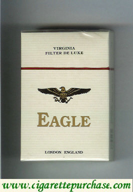 Discount Eagle Virginia Filter De Luxe cigarettes hard box