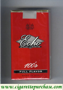 Echo 100s Full Flavor cigarettes soft box