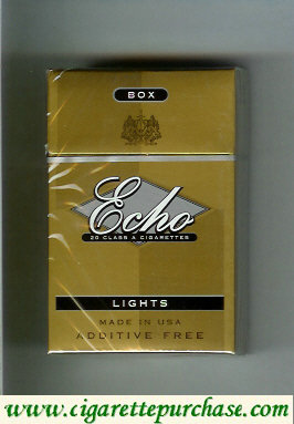 Echo Lights cigarettes hard box