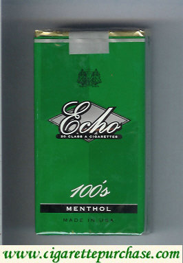 Echo 100s Menthol cigarettes soft box