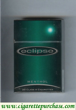 Eclipse Menthol cigarettes with Moon hard box
