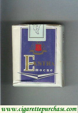 Ekstra Mocne blue and white cigarettes soft box