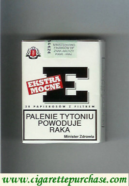 Ekstra Mocne E white cigarettes soft box