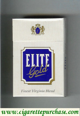 Elite Gold Cigarettes hard box