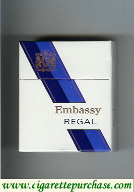 Discount Embassy Regal cigarettes hard box