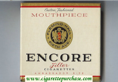 Discount Encore Mouthpiece cigarettes soft box
